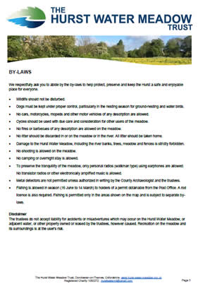 The Hurst Water Meadow Trust - By-Laws