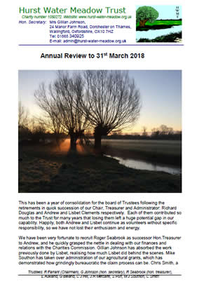 The Hurst Water Meadow Trust - Review end of March 2018