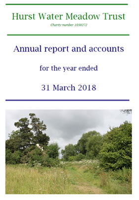 The Hurst Water Meadow Trust - Report end of March 2018