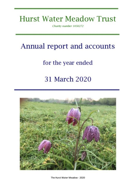 The Hurst Water Meadow Trust - Report end of March 2020