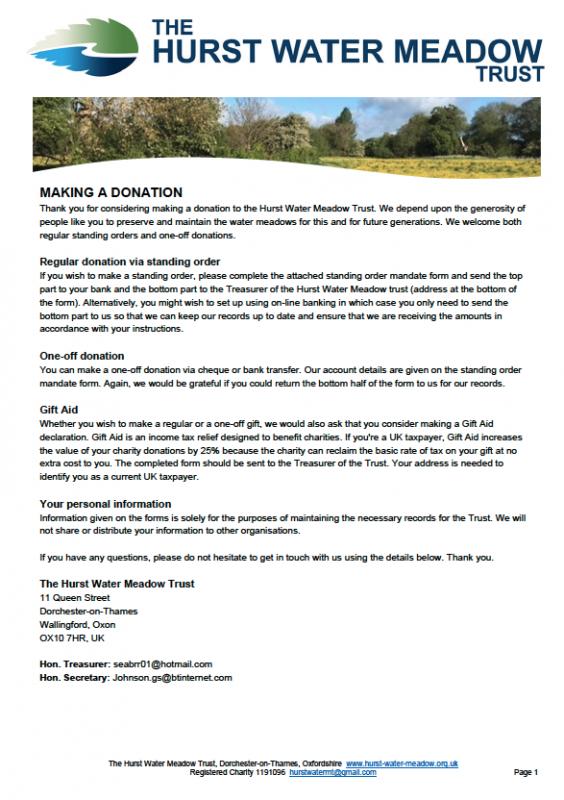 The Hurst Water Meadow Trust